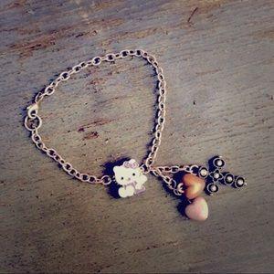 Jewelry - Custom Angel Hello Kitty Hearts & Cross Bracelet